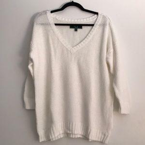 CWonder White Cotton Sweater - XL